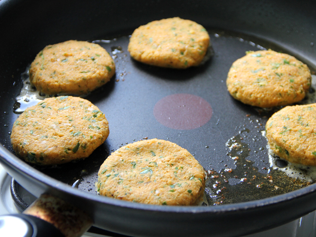 Sweet Potato Chickpea Patties Step 5