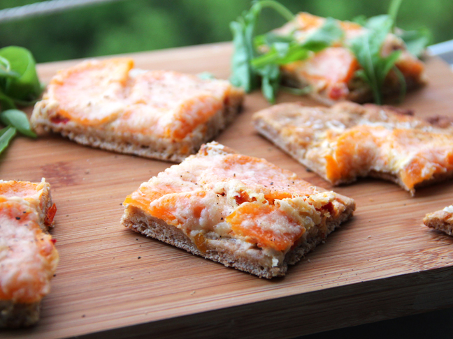 Yeast Free Spelt Pizza with Goat Cheese Recipe Final