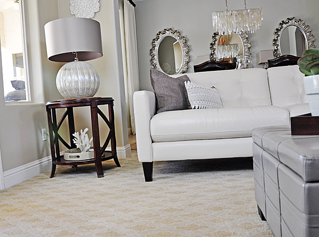 Susan S Living Room Revamp Artistry Is Underfoot With