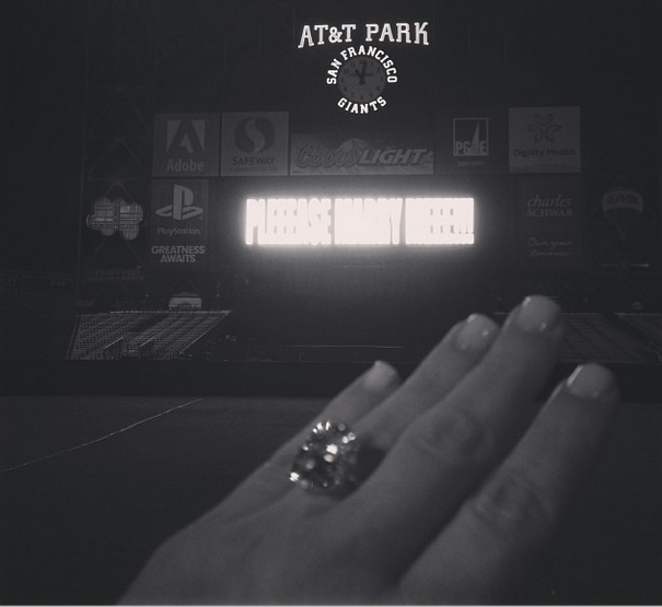Kim Kardashian engagement ring 2