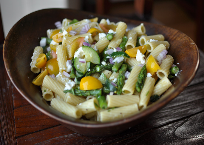 Pasta Salad with Asparagus, Zucchini, and Feta Recipe Final