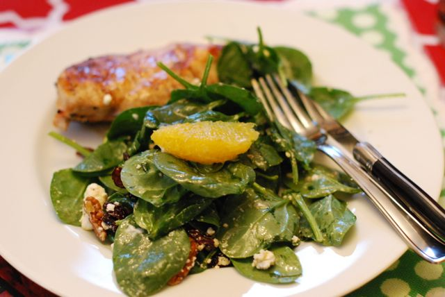 Spinach and Citrus Salad Recipe Final Photo