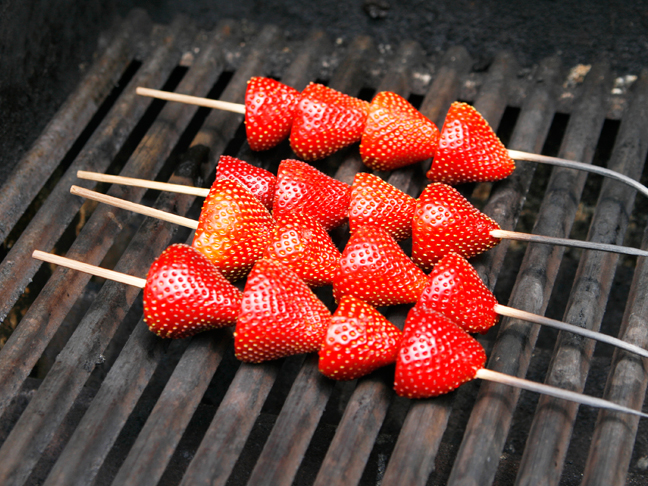 Grilled Strawberry Shortcake Step 2