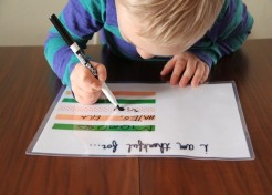 DIY Dry Erase Thanksgiving Placemat for Kids