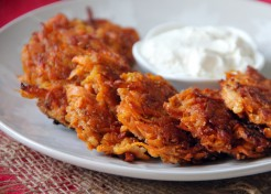 Cinnamon Sweet Potato + Apple Latkes Recipe