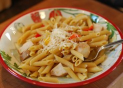 Whole Wheat Pasta with Vegetables and Chicken Recipe