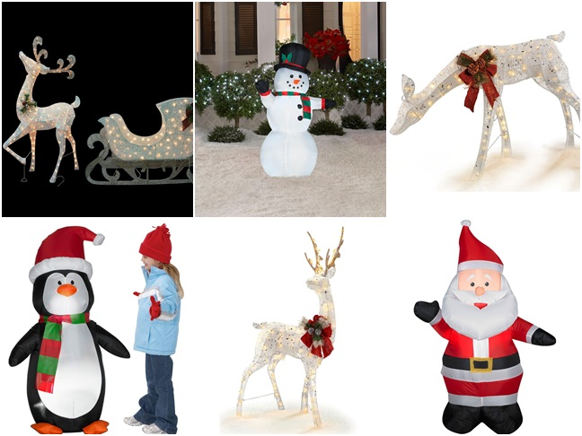Outdoor Holiday Decor from the Home Depot