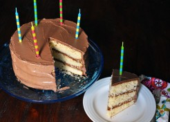 Golden Layer Cake with Chocolate Buttercream Recipe