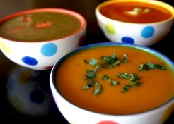 1 Easy Cooking Technique, 3 Winter Vegetarian Soup Recipes: Carrot, Red Pepper, and Broccoli