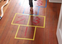 DIY Indoor Hopscotch Game