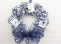 DIY Winter Picture Memory Wreaths