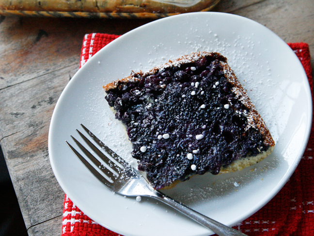 Sweet Blueberry Egg Bake