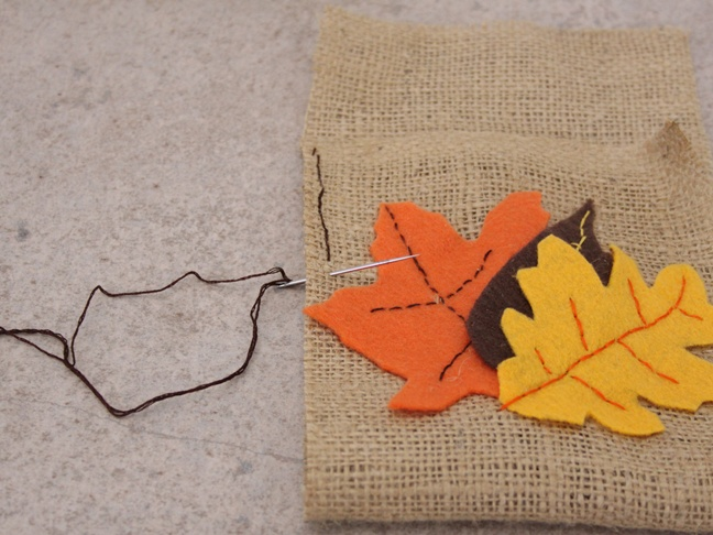 Thanksgiving Burlap - Step 7