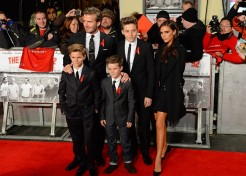 David Beckham Doesn't Play Favorites With His Sons On The Soccer Field
