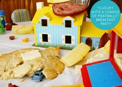 """A """"Cloudy with a Chance of Meatballs"""" Family Breakfast Party"""