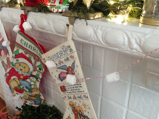 Marshmallow Garland DIY by Chandra Fredrick of Oh Lovely Day   Momtastic
