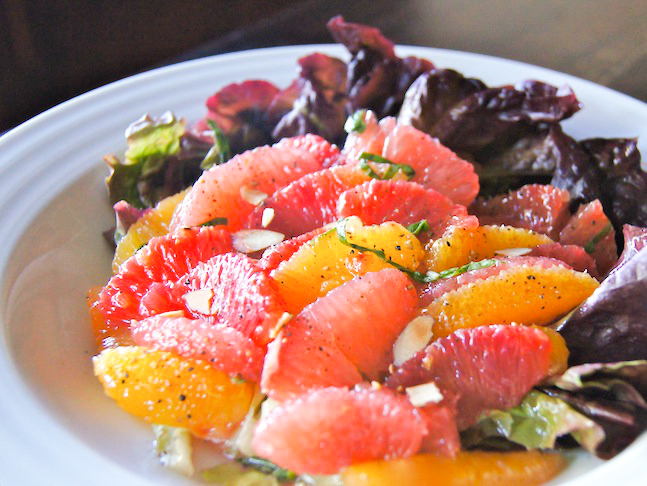Winter Citrus Salad with with Maple-Orange Vinaigrette | Recipe