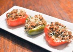 Healthy Turkey And Rice Stuffed Peppers Recipe