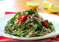 Roasted Red Pepper Barley Salad Recipe