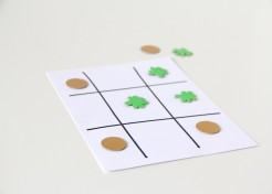 DIY St. Patrick's Day Tic Tac Toe Game