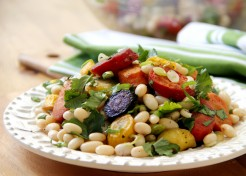 Rainbow Carrot Salad with White Beans Recipe