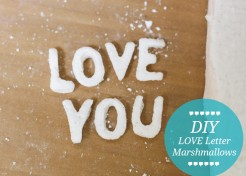 DIY LOVE Marshmallows Recipe