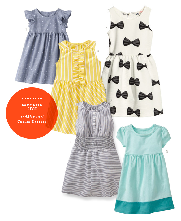 Favorite Five Casual Toddler Dresses from The Kids' Dept. for Momtastic
