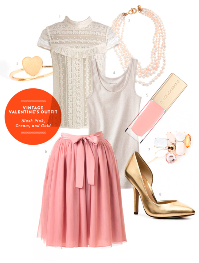 Perfect Valentine S Day Date Outfit Pink Cream And Gold