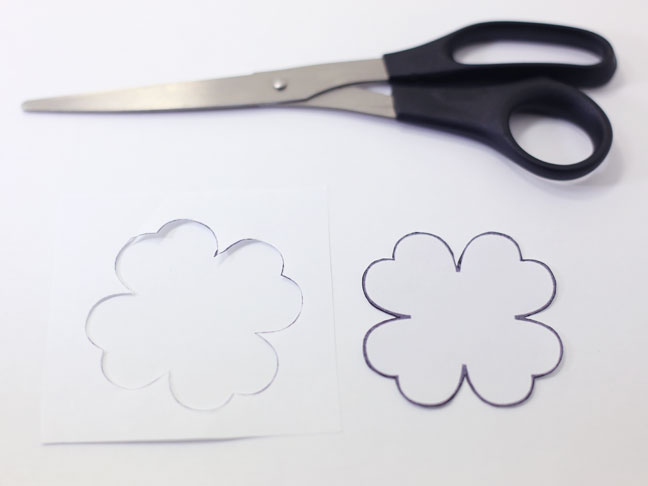 shamrock template scissors