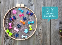 DIY: Modern Bow Holder Tutorial
