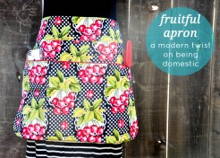 DIY Fruitful Easy Apron Pattern: A Modern Twist on Being Domestic