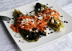 Roasted Romaine Salad with Smoked Salmon and Feta Recipe