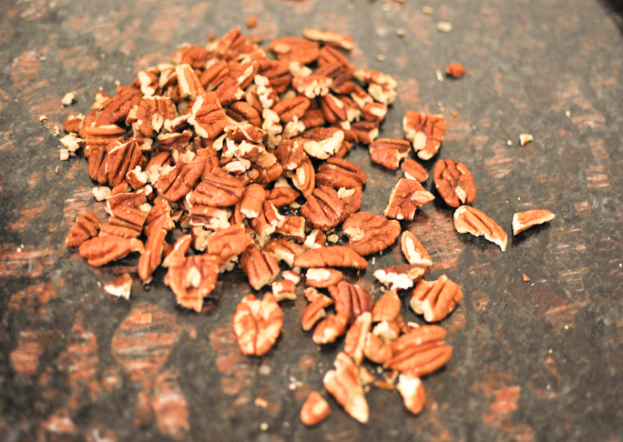 roughly chopped pecans