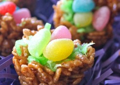 Easter Dessert Recipe: Chocolate Rice Krispies Treats Nests