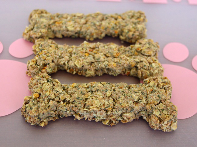 parsely and carrot homemade dog treats