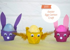 DIY Easter Bunny (and Chick!) Egg Carton Craft