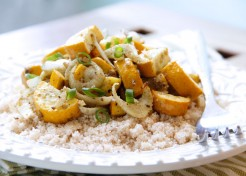 Meatless Monday: Cumin Roasted Zucchini and Fennel with Couscous Recipe