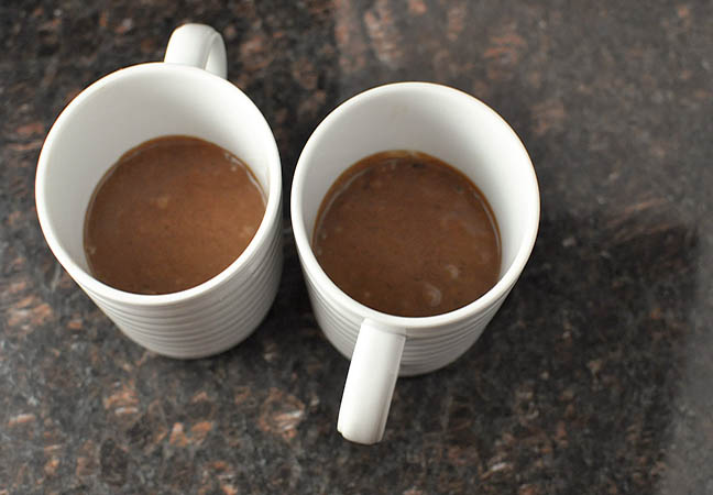 two mug brownies