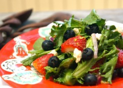 Lemon Scented Strawberry Blueberry Salad (Red, White and Blue for the 4th of July)