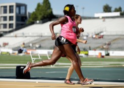 Props to Olympian Alysia Montano for Racing at 8 Months Pregnant
