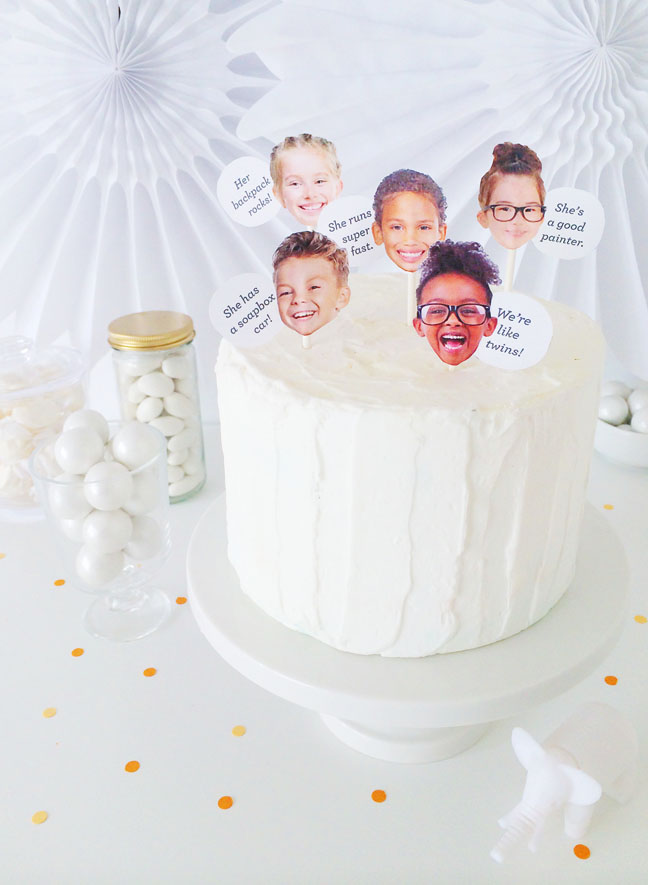 DIY Kids Say Birthday Cake Toppers