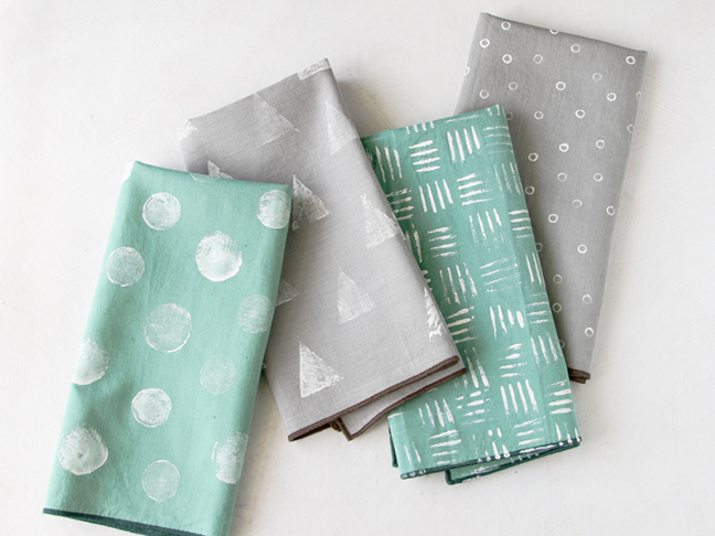 Stamped Napkins 4 Ways