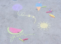 DIY: Printable Sidewalk Chalk Stencils
