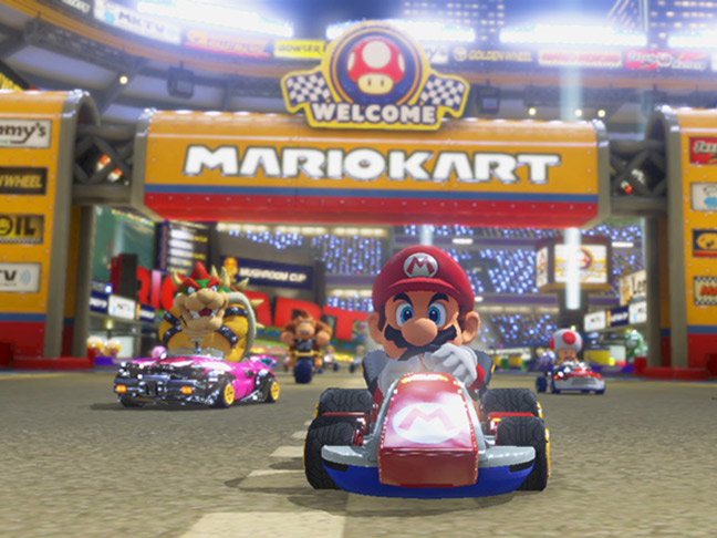 Screenshot of Mario Kart 8