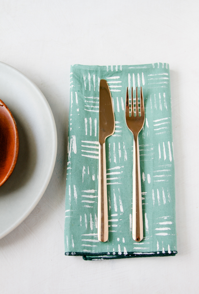 DIY Napkin Stamping Ideas