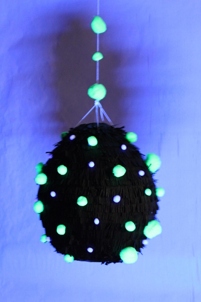 DIY Glow in the dark piñata Kelly Ladd Sanchez Momtastic