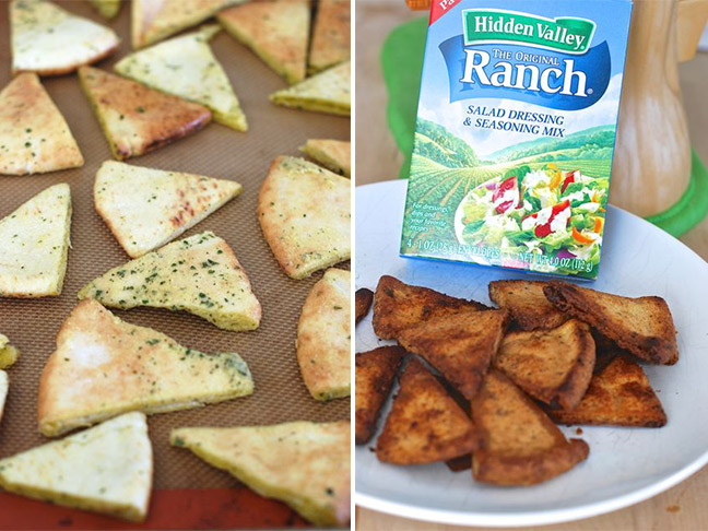 Ranch Baked Pita Chips Recipe