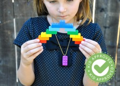 LEGO Polymer Clay Pendant Necklace