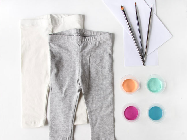 Supplies for Painted Pants DIY