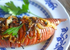 Ranch Roasted Hasselback Sweet Potatoes Recipe